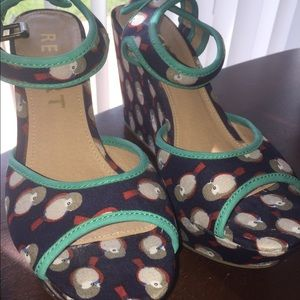 Wedge sandals - size 8.5 NW